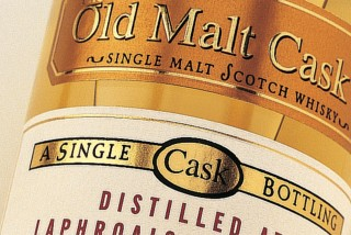 A close up of a bottle of Old Malt Cask
